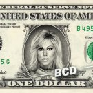 MARLENA on a REAL Dollar Bill WWE Terri Lynne Boatright Runnels Cash Money