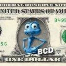 FLIK Bugs Life on a REAL Dollar Bill Disney Cash Money Memorabilia Collectible