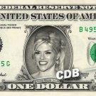 ANNA NICOLE SMITH on a REAL Dollar Bill Cash Money Memorabilia Collectible Bank