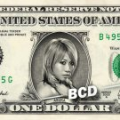 ASUKA on REAL Dollar Bill WWE Cash Money Memorabilia Collectible Celebrity Bank