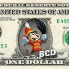 TIMOTHY Q Mouse on a REAL Dollar Bill Disney Cash Money Memorabilia Collectible