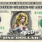 EMMA FROST on REAL Dollar Bill Marvel Disney Cash Money Memorabilia Collectible
