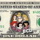 Ariel Belle Cinderella Sleeping Beauty Snow White Jasmine on REAL Dollar Disney
