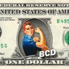 ROSIE the Riveter on REAL Dollar Bill Cash Money Memorabilia Collectible