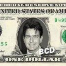 CHARLIE SHEEN on a REAL Dollar Bill Cash Money Memorabilia Collectible Celebrity