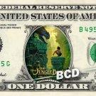 JUNGLE BOOK 2016 Movie on a REAL Dollar Bill Disney Cash Money Memorabilia Bank