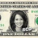 LUCY LIU on a REAL Dollar Bill Cash Money Memorabilia Collectible Celebrity Bank