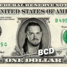 COLIN CASSADY on REAL Dollar Bill WWE Cash Money Memorabilia Collectible Bank