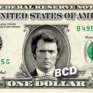 DIRTY HARRY on REAL Dollar Bill Clint Eastwood Cash Money Memorabilia Bank Note