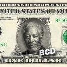 MORGAN FREEMAN on REAL Dollar Bill Cash Money Memorabilia Collectible Celebrity