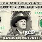 BILL MONROE on a REAL Dollar Bill Cash Money Memorabilia Collectible Celebrity