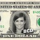 DANIKA PATRICK on REAL Dollar Bill Cash Money Memorabilia Collectible Celebrity