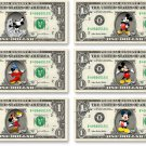 """Disney's Mickey Mouse """"Through the Years"""" Collection on REAL DOLLAR Bills Money"""