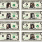 The WALKING DEAD 8 Bills Collection on REAL Money Cash Bank Note Dollar Currency