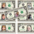Disney FROZEN 7-set Collection on REAL DOLLAR BILL Money Cash Disney's Mint