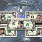 Mr Spock - 5-Set REAL DOLLAR BILL Collection Star Trek Leonard Nimoy Cash Money