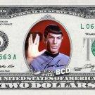 REAL $2 Mr Spock Bill with SIGNATURE - Leonard Nimoy Star Trek Money Dollar