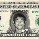BRUCE LEE on REAL Dollar Bill Collectible Celebrity Cash Memorabilia Money Bank