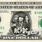 ACDC on REAL Dollar Bill AC DC Cash Money Memorabilia Collectible Celebrity Bank