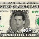 DONALD TRUMP JR on REAL Dollar Bill Cash Money Collectible Memorabilia Celebrity