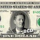 PIERS MORGAN on a REAL Dollar Bill Cash Money Collectible Memorabilia Celebrity