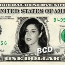 KAT VON D on REAL Dollar Bill Cash Money Collectible Memorabilia Celebrity Bank