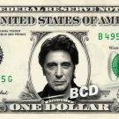 AL PACINO on REAL Dollar Bill Cash Money Collectible Memorabilia Celebrity Banks