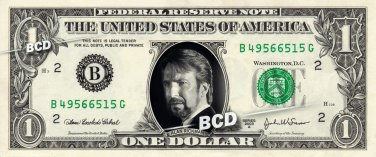 ALAN RICKMAN Hans Gruber on REAL Dollar Bill Cash Money Collectible Memorabilia