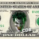 JOKER on REAL Dollar Bill Cash Money DC Comic Collectible Memorabilia Bank Note