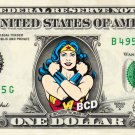 WONDER WOMAN on a REAL Dollar Bill Cash Money DC Comic Collectible Memorabilia