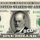 SIGMUND FREUD on REAL Dollar Bill Cash Money Bank Note Currency Dinero Celebrity