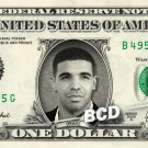 DRAKE on REAL Dollar Bill Cash Money Collectible Memorabilia Celebrity Bank Note