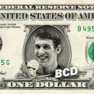 MICHAEL PHELPS Olympic Gold Medal on a REAL Dollar Bill Cash Money Collectible