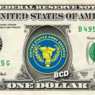 ARMY RESERVE on a REAL Dollar Bill Cash Money Collectible Military Badge Logo