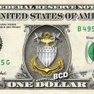 COAST GUARD on a REAL Dollar Bill Cash Money Collectible Military Badge Logo