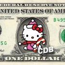 HELLO KITTY Christmas on a REAL Dollar Bill Cash Money Collectible Memorabilia