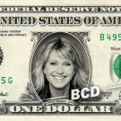 OLIVIA NEWTON JOHN on REAL Dollar Bill Cash Money Bank Note Currency Dinero