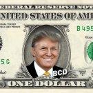 DONALD TRUMP on a REAL Dollar Bill Cash Money Memorabilia Celebrity Collectible