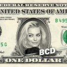 MARGOT ROBBIE on a REAL Dollar Bill Cash Money Collectible Memorabilia Celebrity