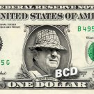COACH BEAR BRYANT on REAL Dollar Bill Cash Money Bank Note Currency Dinero