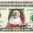 SANTA CLAUS on a REAL Dollar Bill - Collectible Celebrity Cash Money Art Clause $$