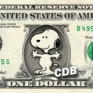 SNOOPY on a REAL Dollar Bill Cash Money Collectible Memorabilia Celebrity Bank