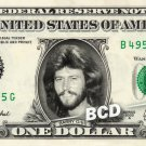 BARRY GIBB Bee Gees on REAL Dollar Bill Cash Money Bank Note Currency Dinero