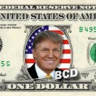 Donald Trump REAL Dollar Bill Cash Money Memorabilia Collectible Celebrity Bank
