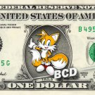 TAILS Sonic on REAL Dollar Bill Cash Money Collectible Memorabilia Charlie Bank