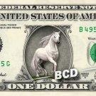 Beautiful HORSE on REAL Dollar Bill Cash Money Collectible Memorabilia Bank Note