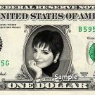 LIZA MINNELLI on a REAL Dollar Bill Cash Money Memorabilia Collectible Celebrity