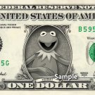 KERMIT THE FROG on REAL Dollar Bill Cash Money Bank Note Currency Dinero