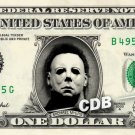 MICHAEL MYERS Friday the 13th on REAL Dollar Bill Cash Money Collectible Memorabilia