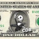 JACK SKELLINGTON on REAL Dollar Bill Nightmare before Christmas Disney Cash Money Collectible